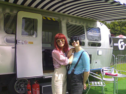 Tabitha & Mairead show off the Airstream