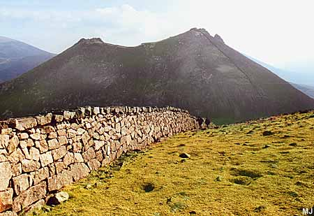 Mourne Wall on Meelmore