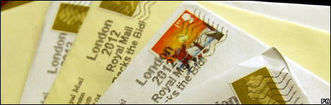 Letters with British stamps on