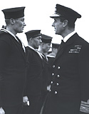 Mountbatten inspects Combined Operation troops at the Combined Ops centre