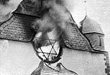 Synagogue burning on 'Kristallnacht', Siegen, Germany