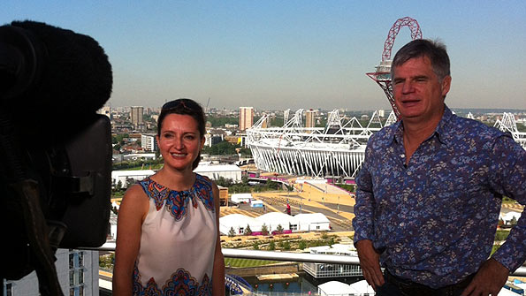 Sport Nation presenters John Beattie (right) and Rhona McLeod