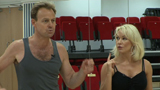 Training: Jason Donovan and Kristina Rihanoff