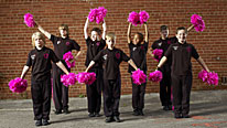The UK's first all-boy cheerleaders, the DAZL Diamonds