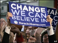 Supporters of Barack Obama