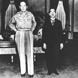 Douglas Macarthur, left, and Emperor Hirohito