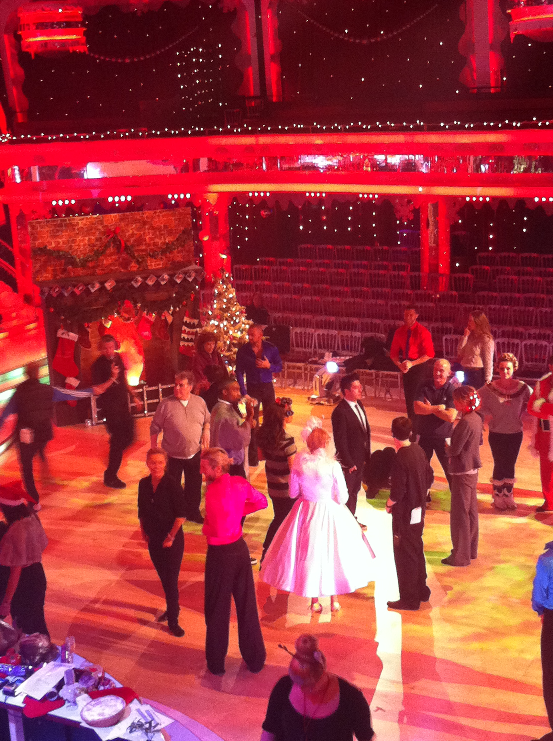 The Strictly stars take part in the group dance