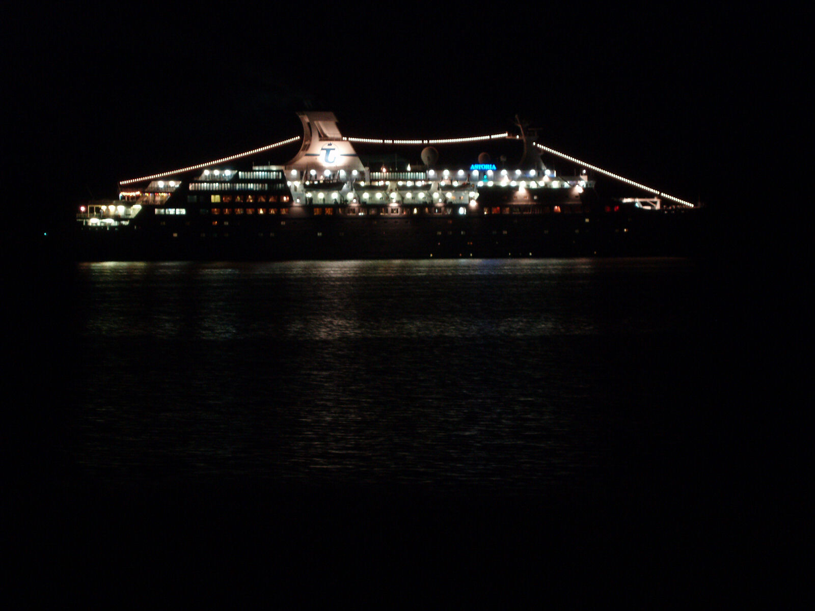 MV Astoria by night