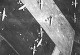Low level aerial view of Horsa gliders