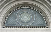 Star of David on a synagogue