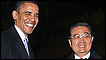 President Barack Obama meets his Chinese counterpart, Hu Jintao