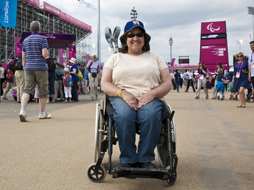 Jenny Lochner at the Olympic Park