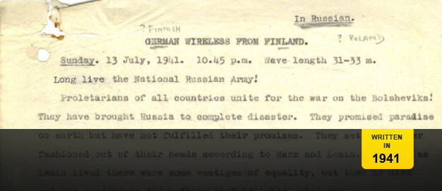 A document reporting on the German's use of propaganda