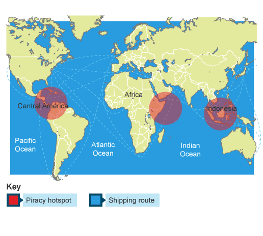 Bbc ks3 bitesize geography geography of crime revision page 7 international crime on the seas gumiabroncs Image collections