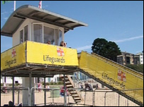 The RNLI lifeboat lookout post