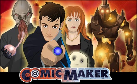 Make your own comic using the Doctor Who Comic Maker