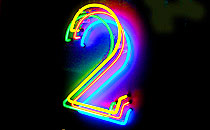 The Radio 2 logo - in neon!