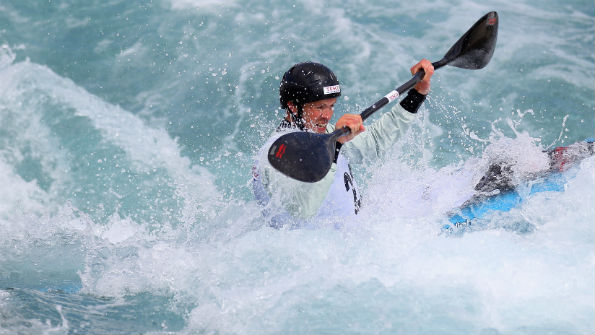 Campbell Walsh on the Olympic canoe slalom course