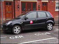 A City Car Club car parked at Recorder road, Norwich