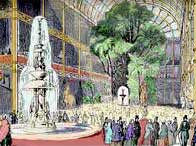 Illustration of the interior of Crystal Palace in Hyde Park, London
