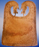 A photo of a whalebone plaque