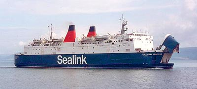 Galloway Princess was one of the last vessels to work the Larne - Stranraer service.