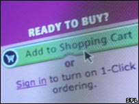 Online shopping screen
