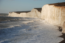 Seven Sisters chalk cliffs on the East Sussex coast