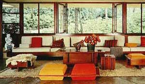 Modernist-influenced living room
