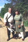 Modern day Celtic couple dressed in authentic Celt style