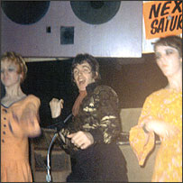 Kath, Peter Stringfellow and Jill Saxilby grooving on stage at the Mojo, 1965