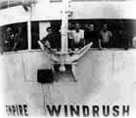 Windrush ship and anchor