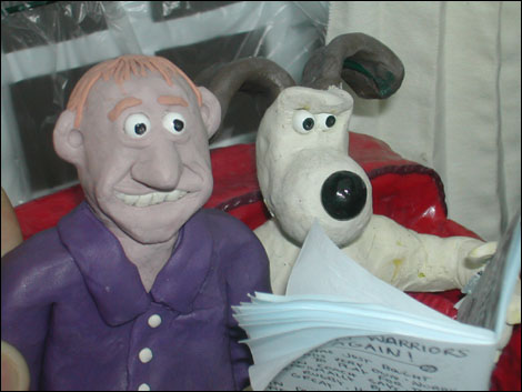 Howard Bentham with Grommit the dog