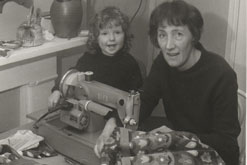 Dorothy Jones and her daughter Bronwen in the 1960's