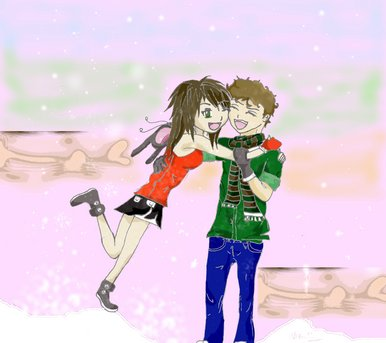 BBC - Blast Art & Design - Anime Christmas Hug