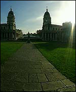Path leading up to Naval College
