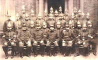 Photograph showing the City of Birmingham police force, 1880s