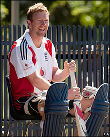 Paul Collingwood at a recent training session in South Africa
