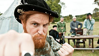 Terrible Tudor Henry VIII (Ben Willbond) is in fighting mood