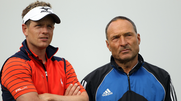 Luke Donald (l) and Dave Alred (r)