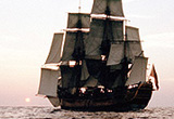 Photo of the replica 'Endeavour' at sea