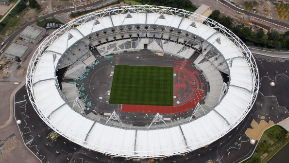 The Olympic Stadium is nearing completion with one year to go until the opening ceremony of London 2012. Photo: Getty
