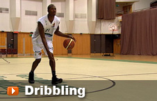 Player dribbling the ball