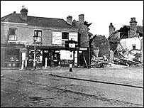 Destruction in Green Lane and Victoria Street