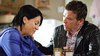 Trouble for Alfie (Shane Richie) and Kat (Jessie Wallace) as her secret is discovered...