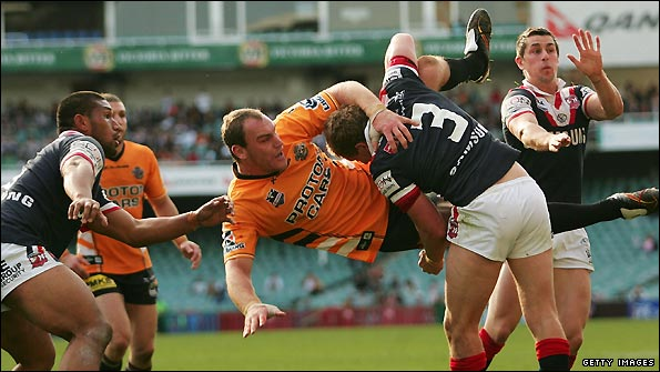 Gareth Ellis in action for Wests Tigers