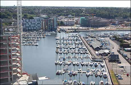View of Neptune Marina from The Mill, Ipswich