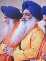 Man in traditional Sikh clothing