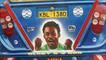 Michaels Essien's face painted on the back of a bus in Kenya