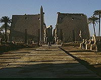 Facade of temple of Luxor, erected by Ramesses II